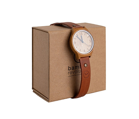 Bamboo Revolution Watch - Tan