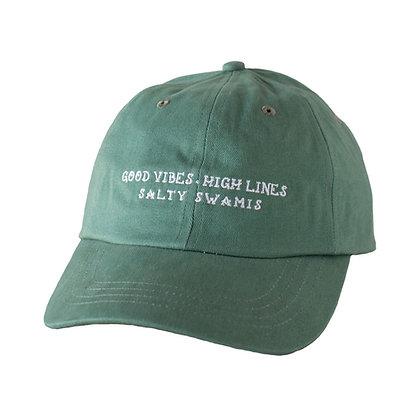 Good Vibes High Lines - Standard Cap Rounded Bill - Light Green