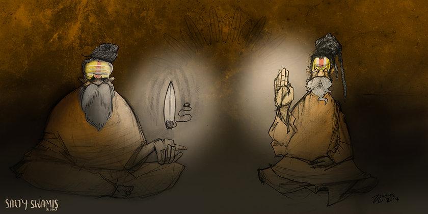 Swamis in Spiritual Light - Poster
