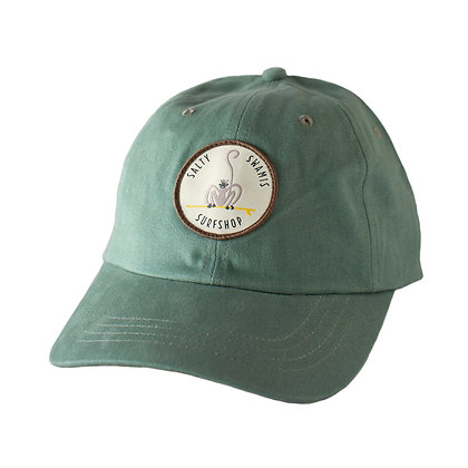 Surfing Langur - Standard Cap Rounded Bill - Light Green