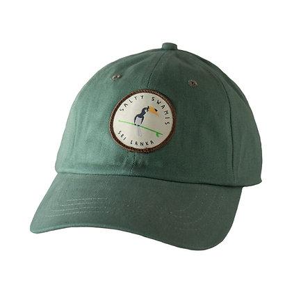 Surfing Malabar Pied Hornbill - Standard Cap Rounded Bill - Light Green