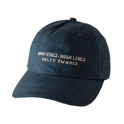 Good Vibes High Lines - Standard Cap Rounded Bill - Navy Blue
