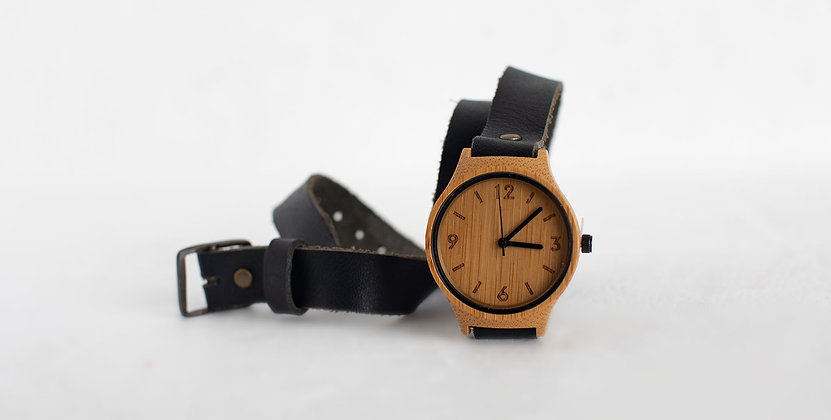 Bamboo Revolution Wrap Watch - Black