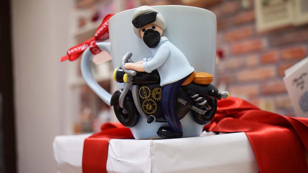 Cană - Motociclist