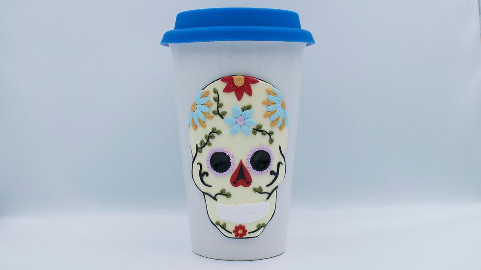 Cană termică - Sugar Skull