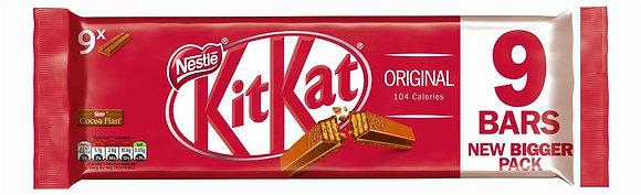 Kit Kat 2 Finger Milk Chocolate Biscuit Bar x9
