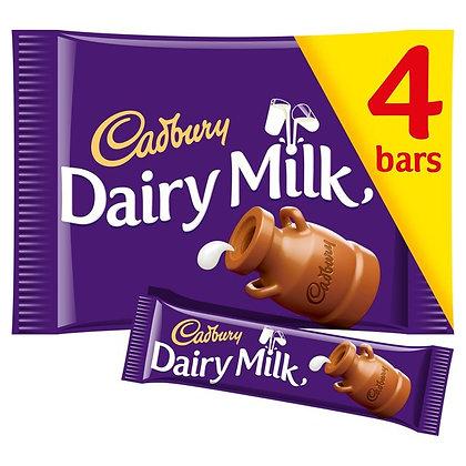 Dairy Milk Chocolate x4 pack 36g