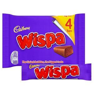 Cadbury Wispa Chocolate Bar x4 pack 30.5g