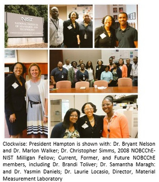 President Hampton Makes First Official NOBCCHE Presidential Trip to NIST