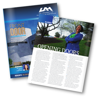 Opening Doors: Talitha Hampton Featured in the UAH Magazine 2015 Summer Issue