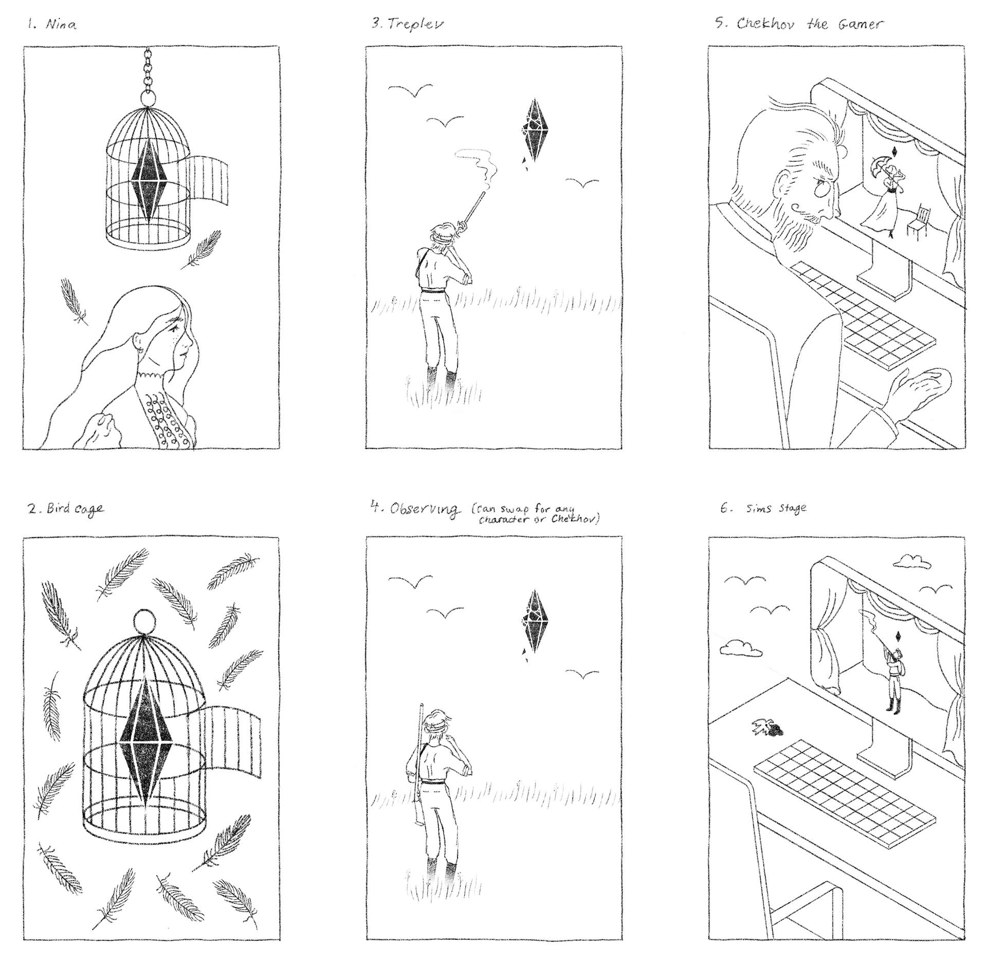 JosieNorton_TheSeagullSims4_Sketches_10.