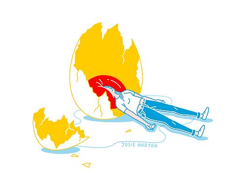 Eggs-istential Crisis Sticker