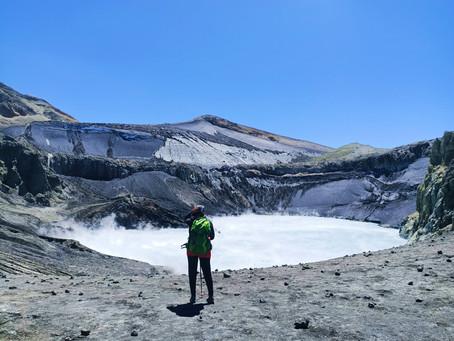 Acenso al cráter del volcán Copahue