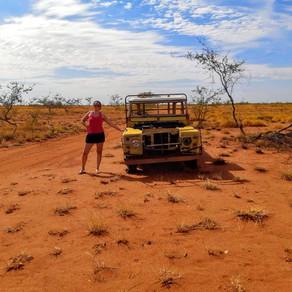 Cruzando el desierto australiano