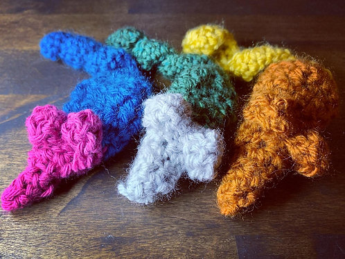 Crocheted Cat Toys - Catnip Mouse