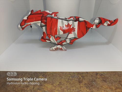 Canadian Flag 05-09 Mustang Pony Grille Emblem
