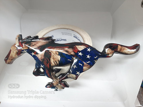 American Flag 05-09 Mustang Pony Grille Emblem