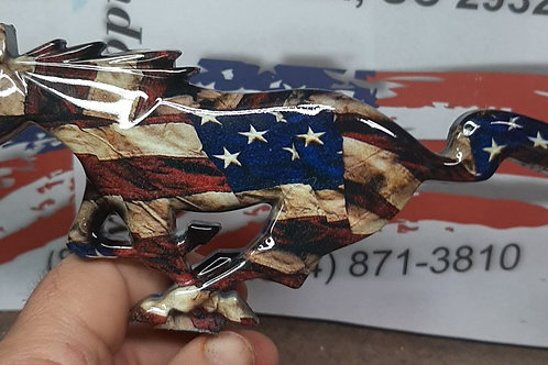 American Flag 64.5-66 Mustang Pony Grille Emblem