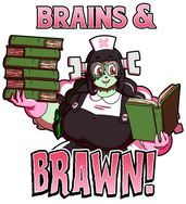 Crafty Shirt - Brains and Brawn.png