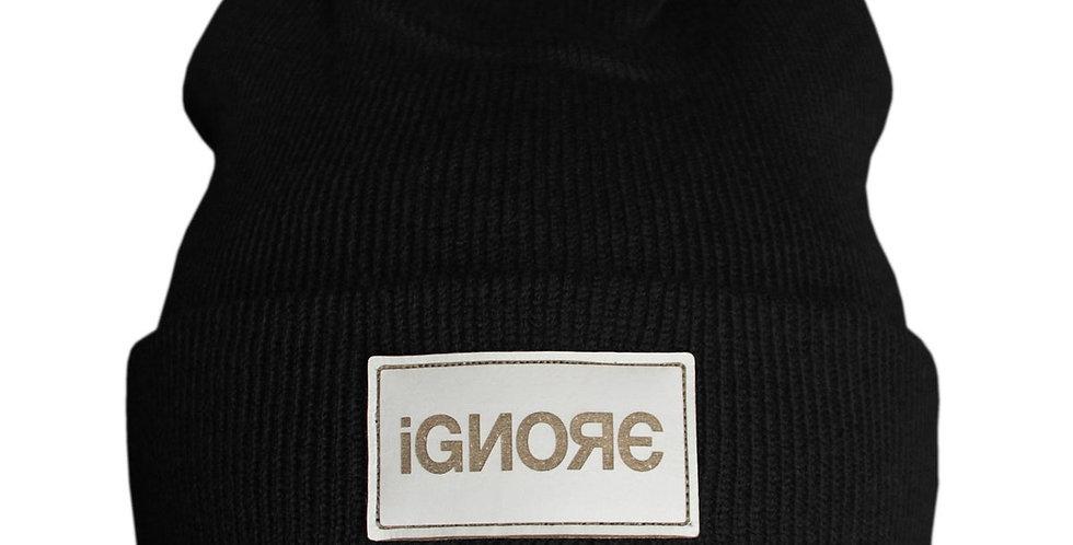 IGNORE SUPPLY - Beanie Ignore Design Leather Black