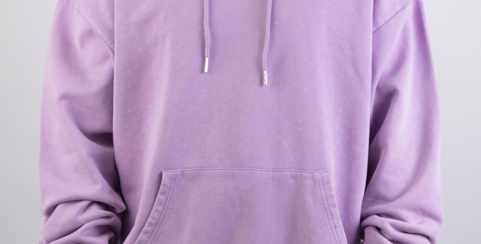 IVOQUÉ - Logo Hoodie Purple Washed Black II