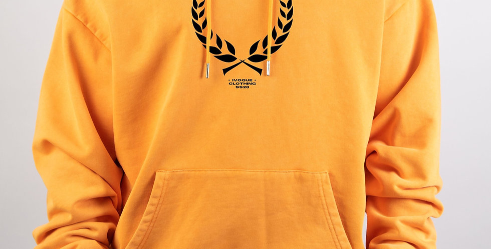 IVOQUÉ - Ivo Hoodie Orange Washed Trophy Black