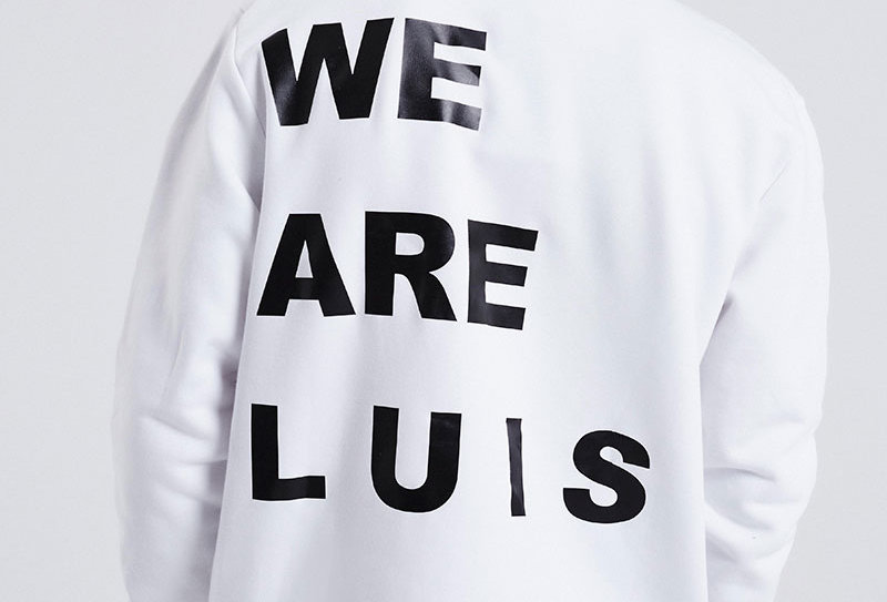 "LUIS ZIEGLER - White ""We are Luis"" Sweater"