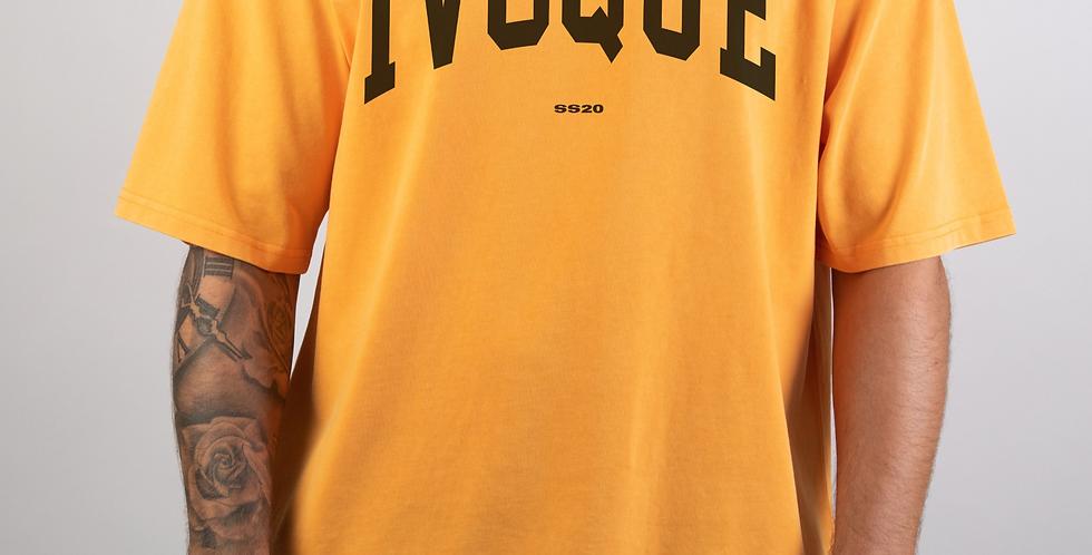 IVOQUÉ - Logo Tee Washed Orange Black