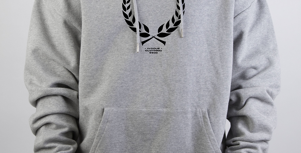 IVOQUÉ - Ivo Hoodie Light Grey Trophy Black