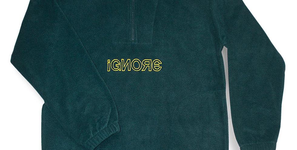 IGNORE SUPPLY - Fleece Sweater Green/Yellow