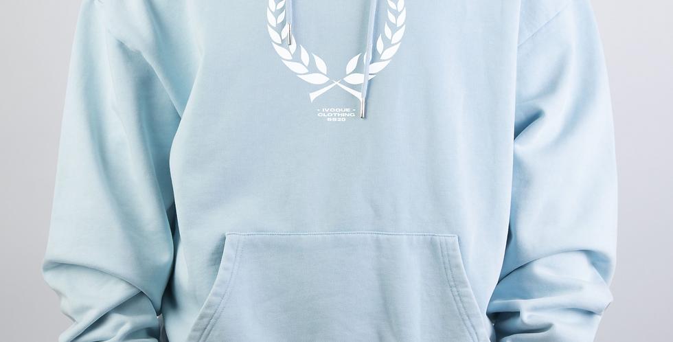 IVOQUÉ - Ivo Hoodie Blue Washed Trophy White
