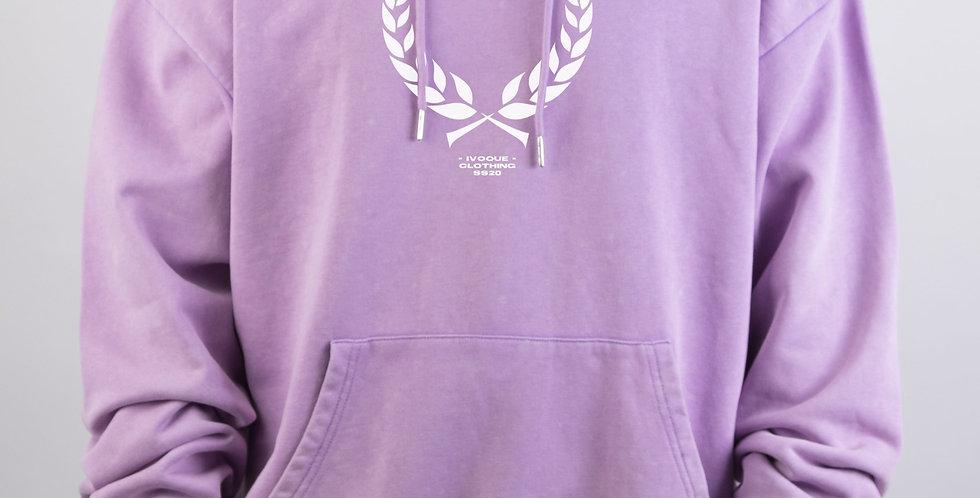 IVOQUÉ - Ivo Hoodie Purple Washed Trophy White