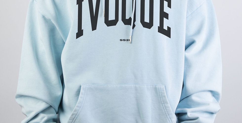IVOQUÉ - Logo Hoodie Blue Washed Black