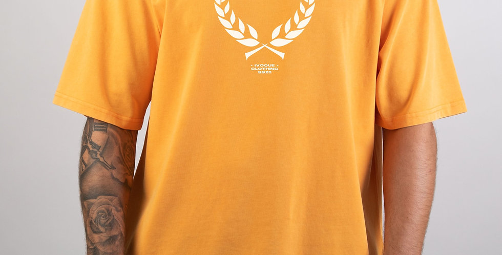 IVOQUÉ - Ivo Tee Washed Orange Trophy White