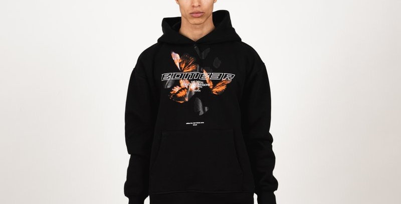 BOMBER CLOTHING - Butterfly Army Hoodie Black