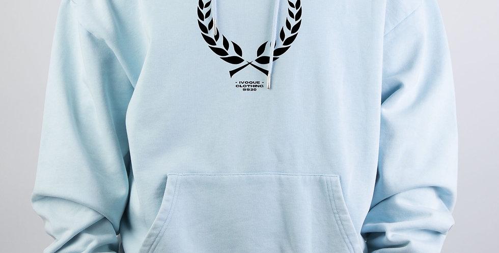 IVOQUÉ - Ivo Hoodie Blue Washed Trophy Black