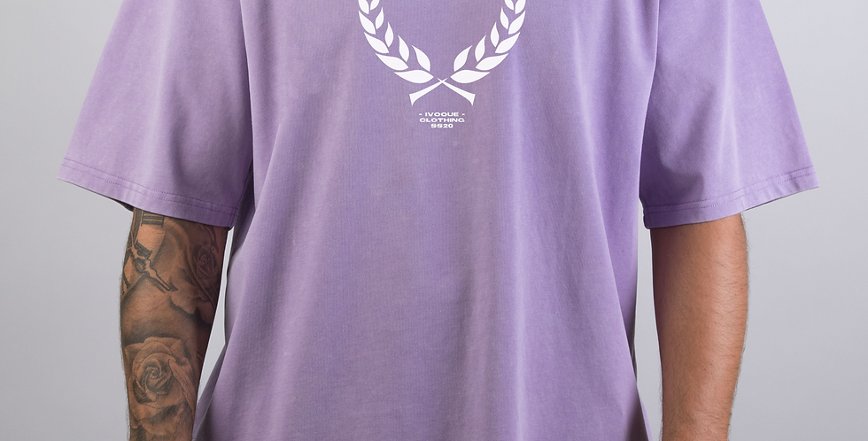 IVOQUÉ - Ivo Tee Washed Purple Trophy White