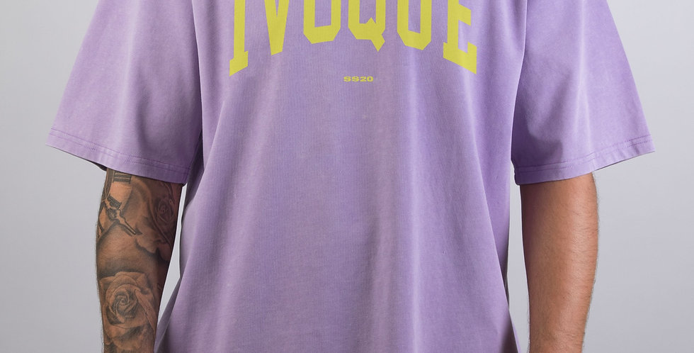 IVOQUÉ - Logo Tee Washed Purple Yellow