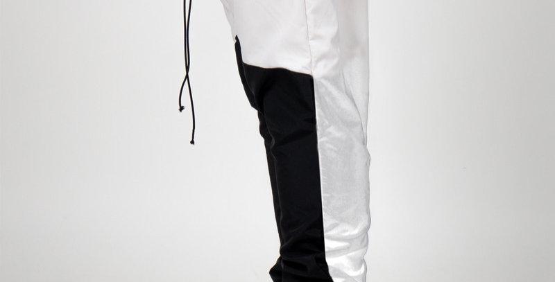 BOMBER CLOTHING -Velcro Pants Cream/Black