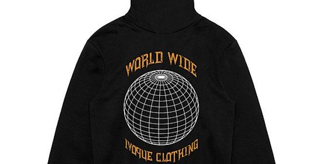 "IVOQUÉ - Hoodie Black / Yellow ""WORLD"""