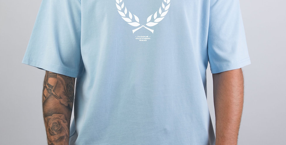 IVOQUÉ - Ivo Tee Washed Blue Trophy White