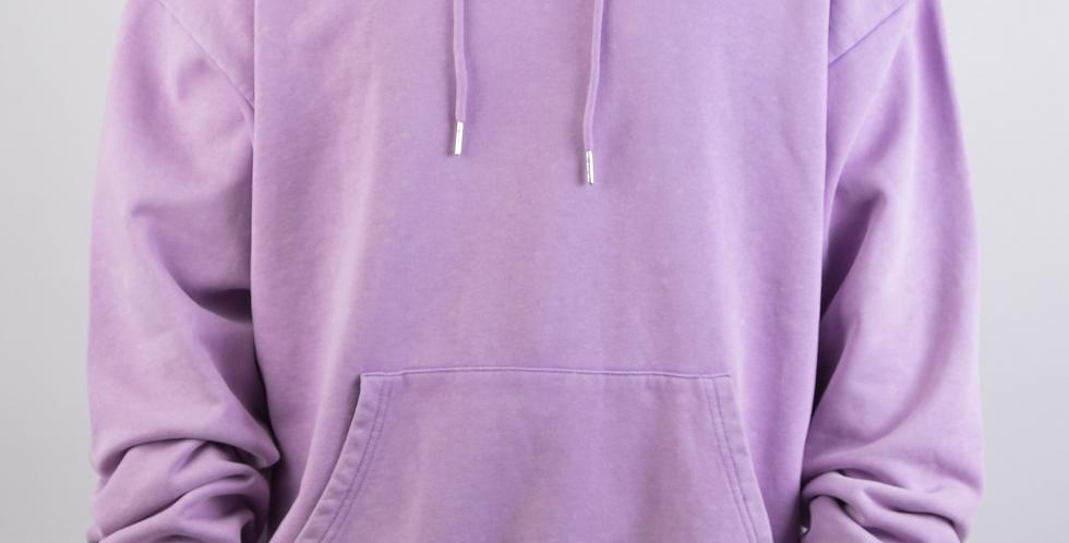 IVOQUÉ - Logo Hoodie Purple Washed White II