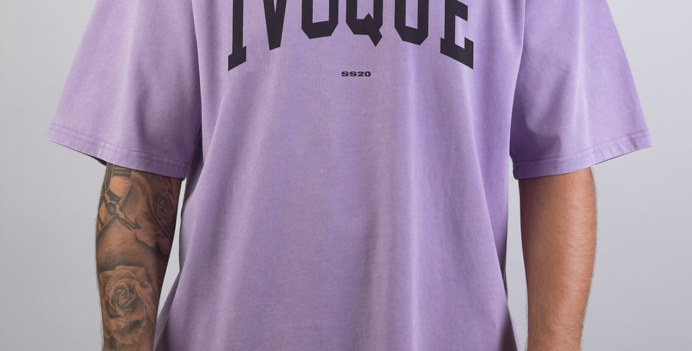 IVOQUÉ - Logo Tee Washed Purple Black