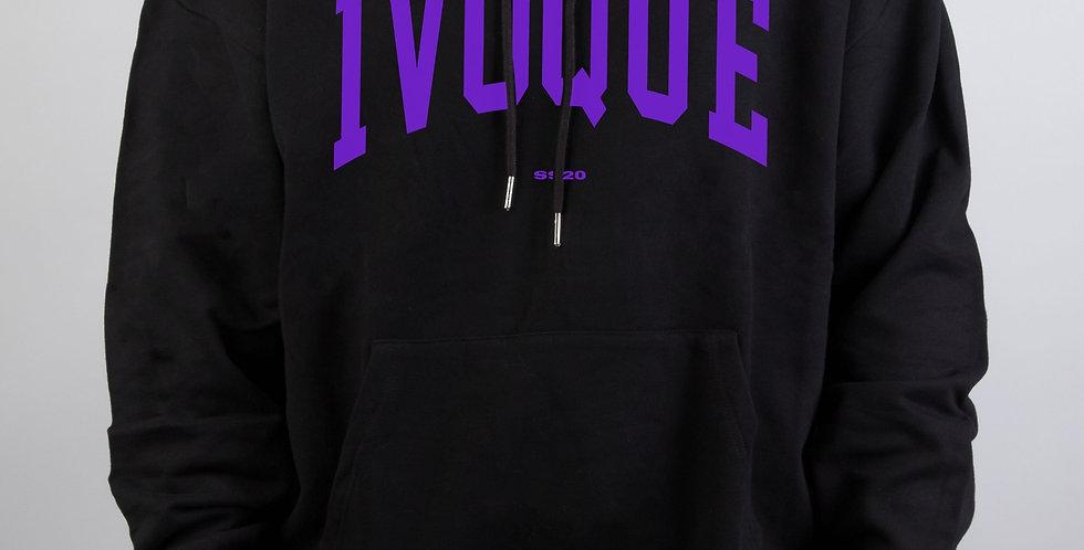 IVOQUÉ - Logo Hoodie Black Purple