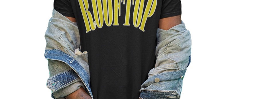 ROOFTOP - Oversize Shirt College Black Yellow