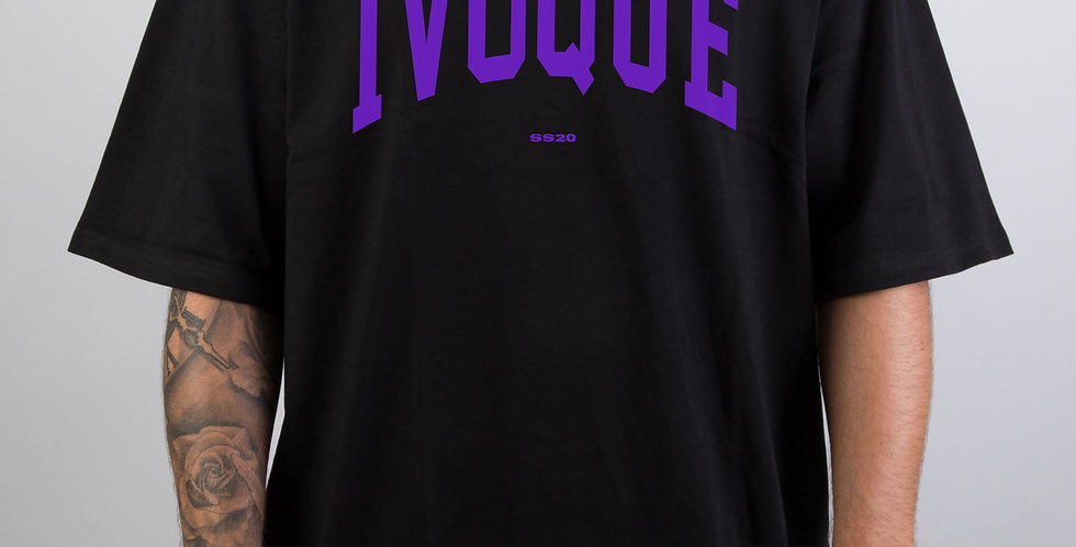 IVOQUÉ - Logo Tee Black Purple