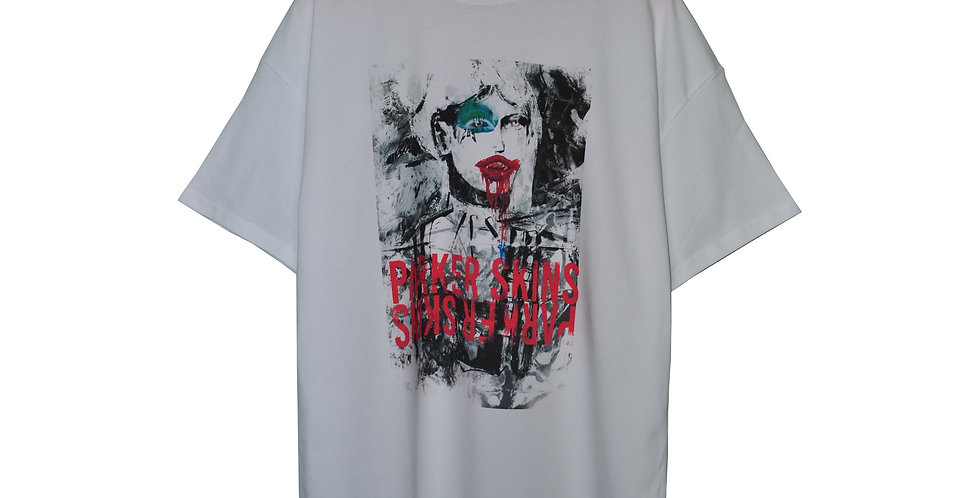 PARKERSKINS - Abstract Feelings White Shirt