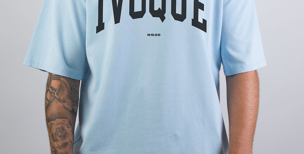 IVOQUÉ - Logo Tee Washed Blue Black