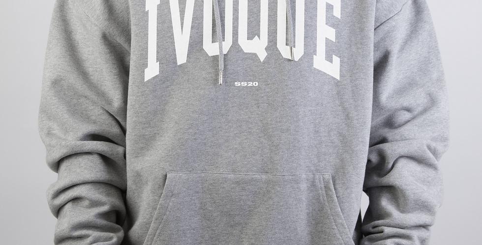 IVOQUÉ - Logo Hoodie Light Grey White
