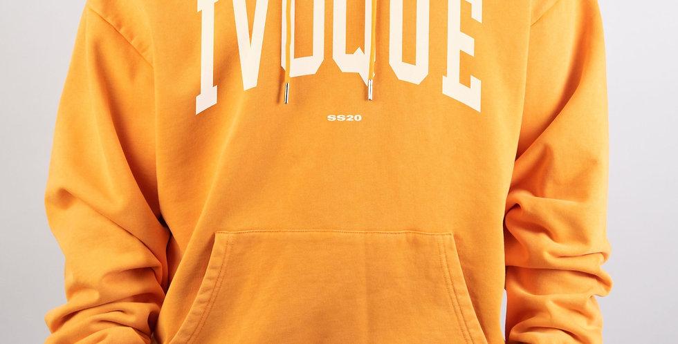 IVOQUÉ - Logo Hoodie Orange Washed White
